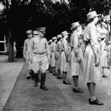 Regimental Commander Inspecting WACs and Their Stocking Seams at Assembly Photographic Print by Marie Hansen
