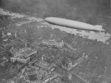 750 Foot Long Graf Zeppelin LZ 127 Flying Above British Capital Photographic Print