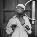 Close Up of a Child Beggar Photographic Print by Bob Landry