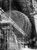 Completed Iron Framework of Zeppelin Supported on Scaffolding at Fabrication Plant Premium Photographic Print