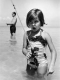 Girl with a Fishing Rod Premium Photographic Print by Alfred Eisenstaedt