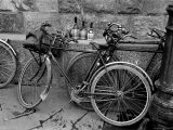 Bicycles Leaning Against the Concrete Wall Premium Photographic Print by Carl Mydans