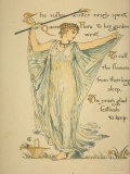 Masque of Flowers Photographic Print by Walter Crane