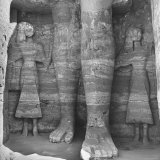 Large Statues in the Ancient Temple at Abu Simbel Photographic Print by Eliot Elisofon