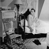 Sailor on Leave Sitting Up in His Bed Photographic Print by J. R. Eyerman
