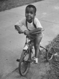 Little Boy on a Tricycle in the Sojourner Truth Housing Project Premium Photographic Print by William Vandivert