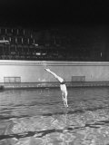 Double Twister Dive by Ohio State University Diver Miller Anderson, NCAA Swimmer of the Year Premium Photographic Print by Gjon Mili