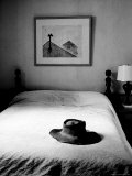 Hat Belonging to Painter Andrew Wyeth on Top of Bed at Home Photographic Print by Alfred Eisenstaedt