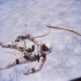 Gemini 4 Astronaut Edward H. White II Floating in Space During First American Spacewalk Photographic Print by James A. Mcdivitt