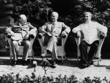 Big Three Allied Leaders at Potsdam Conference, Discussing Plans For the Future of Germany Reproduction photographique