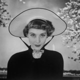 New French Hat For Spring Photographic Print by Nina Leen