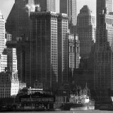 Panoramic View of Buildings in Lower Manhattan Taken from the New Jersey Banks of the Hudson River Photographic Print by Andreas Feininger