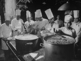 Cooks Preparing Feast For Alba Wedding Premium Photographic Print by Frank Scherschel