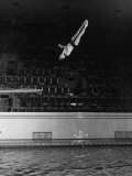 Double Twister Dive by Ohio State University Diver Miller Anderson, NCAA Swimmer of the Year Photographic Print by Gjon Mili