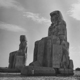 Small Boy Standing Beside the Collosi of Memnon Photographic Print by Eliot Elisofon