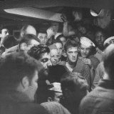 American Crew Aboard LST 317 Listen to Landing Instructions from the Skipper on D-Day Minus 1 Photographic Print by David Scherman
