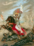 "Portrait of French Military Leader and Heroine Joan of Arc Entitled ""La Prophetie de Merlin"" Photographic Print"