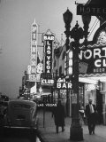 Brightly Lit Casinos Lining the Street Photographic Print by Peter Stackpole