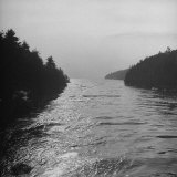 Ocean Made from Bridge Joining Grade Island and Orr's Island Photographic Print by Eliot Elisofon