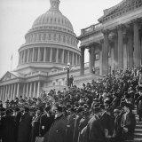 Jewish Rabbis March on Washington, on the Senate Steps Photographic Print by Thomas D. Mcavoy