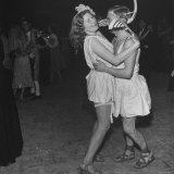 Grecian Dancers Enjoying Themselves at the Chelsea Arts Ball Photographic Print by Tony Linck