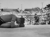 Buddhist Prayers at Beginning of the Prefight Ceremony of Muay Thai Boxing Photographic Print by Jack Birns