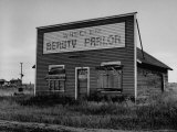 Boarded Up Beauty Salon Premium Photographic Print by Charles E. Steinheimer