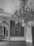 Elaborate Crystal Chandeliers Hanging from Ceilings in Kunsthistoriches Museum Premium Photographic Print by Nat Farbman