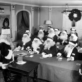 Dean of Santa's Giving Lecture at the Waldorf Santa Convention Photographic Print by Martha Holmes