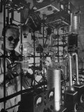 Chemist Working in the Research Laboratory Premium Photographic Print by Fritz Goro