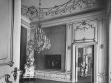 Elaborate Crystal Chandelier Hanging from Ceilings in Kuntshistoriche Museum Premium Photographic Print by Nat Farbman
