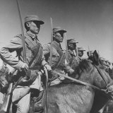 Close Up of Cavalry Cadets at Tihwa Military Academy Photographic Print by William Vandivert