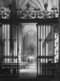 Interior View of the National Cathedral Premium Photographic Print by Andreas Feininger