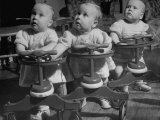 Baby Girl Triplets Premium Photographic Print by Fritz Goro