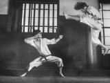 Japanese Karate Students Demonstrating Fighting Photographic Print by John Florea