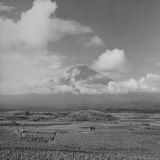 Mt. Fuji from Across Lake Kawajuchi Photographic Print by Carl Mydans