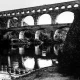 The Pont de Gard, Ancient Roman Aqueduct Bridging River Gard, Built by Romans in First Century BC Photographic Print by Gjon Mili