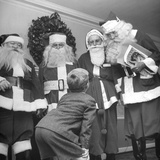 Santa Claus Convention and Training Course at Waldorf Astoria Photographic Print by Martha Holmes