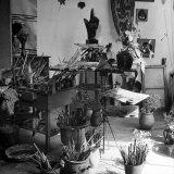 Painter Georges Braque's Studio Photographic Print by David Scherman