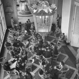 View of the Main Dining Room in the Hotel Quitandinha in Brazil Photographic Print by Frank Scherschel