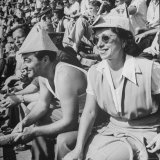 Sports Fans Attending Baseball Game at Ebbets Field Photographic Print by Ed Clark