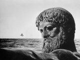 Bronze Statue of Poseidon, Greek God of the Sea Photographic Print by Gjon Mili