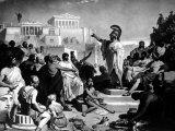 Athenian Statesman Pericles Pleading For Aspasia at Her Trial Premium Photographic Print