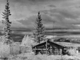 Indian Cabin on Lake Teslin in Yukon Territory Premium Photographic Print by J. R. Eyerman