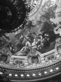 Detail of a Mural Decorating the Entire Ceiling of the Paris Opera House Created by Jules Lenepveu Premium Photographic Print by Walter Sanders