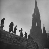 Sunday Volunteer Workers Working in the Martin Luther Platz Photographic Print by William Vandivert
