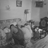 Charles C. Todd and His Family, Praying in the Morning Before Breakfast Photographic Print by Wallace Kirkland