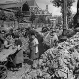 Paris Market Photographic Print by Frank Scherschel