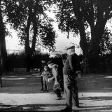 France's Favorite Outdoor Game, Boules, Played in Shade of Trees Photographic Print by Gjon Mili