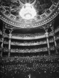 Auditorium of the Paris Opera House Premium Photographic Print by Walter Sanders